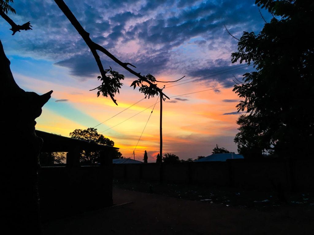 sunset photo label post